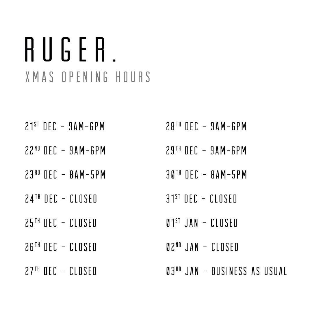 ATTENTION  Christmas opening hours