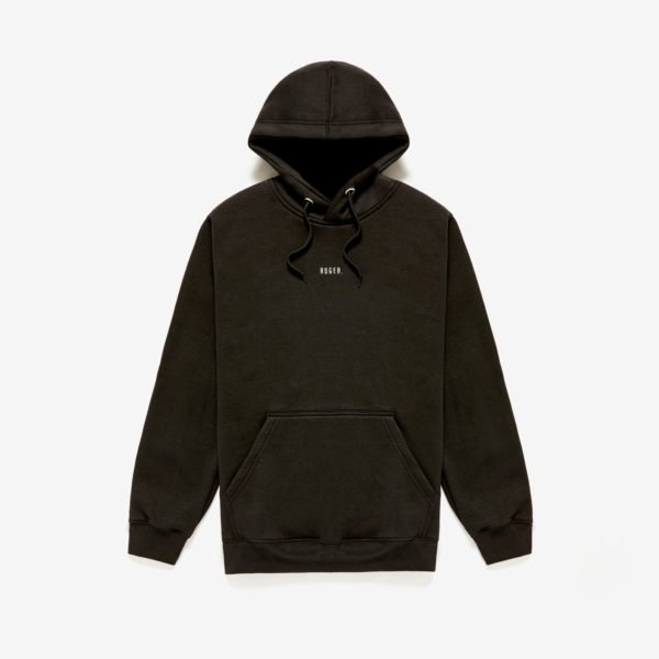 RUGER . Black Cotton Mix Hoodie