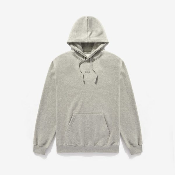 RUGER . Grey Cotton Mix Hoodie